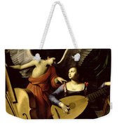 Saint Cecilia And The Angel Weekender Tote Bag