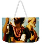 Saint Christopher With Saint Peter Weekender Tote Bag