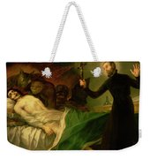 Saint Francis Borgia Helping A Dying Impenitent Weekender Tote Bag