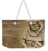 Saint Francis Of Assisi Weekender Tote Bag by Dan Sproul