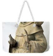 Saint Francis Of Assisi Statue With Birds Weekender Tote Bag