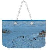 Saint Joseph Michigan Beach In Winter Weekender Tote Bag