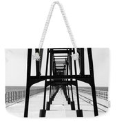 Saint Joseph Michigan Inner Lighthouse Catwalk Sunny Day Bw Weekender Tote Bag