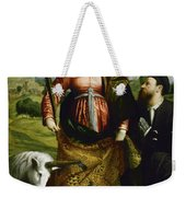 Saint Justina With The Unicorn Weekender Tote Bag