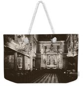 Saint Louis Cathedral New Orleans Black And White Weekender Tote Bag