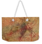 Saint Louis Missouri Street Map Schematic Watercolor On Old Parchment From 1903 Weekender Tote Bag