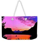 Saint Mary Lake Twilight Weekender Tote Bag