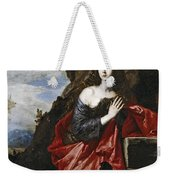 Saint Mary Magdalene In The Desert Weekender Tote Bag