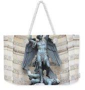 Saint Michael The Archangel In Paris Weekender Tote Bag