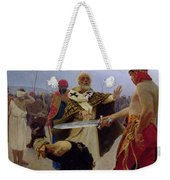 Saint Nicholas Of Myra Saves Three Innocents From Death Weekender Tote Bag by Ilya Efimovich Repin