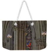 Saint Patrick's Cathedral Stained Glass Window Weekender Tote Bag