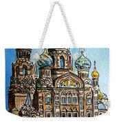 Saint Petersburg Russia The Church Of Our Savior On The Spilled Blood Weekender Tote Bag by Irina Sztukowski