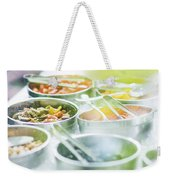 Salad Bowls With Mixed Fresh Vegetables Weekender Tote Bag