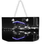 Salford Quay Reflection Weekender Tote Bag