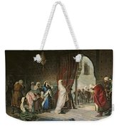 Salida Del Boabdil, At The Alhambra Oil On Canvas Weekender Tote Bag