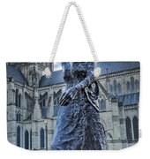 Salisbury Cathedral And The Walking Madonna 2 Weekender Tote Bag