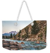 Salmon River In The Twilight Weekender Tote Bag