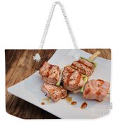 Salmon Teriyaki Skewers Weekender Tote Bag