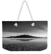 Salt Cloud Reflection Black And White Weekender Tote Bag