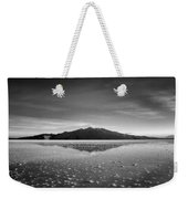 Salt Cloud Reflection Black And White Select Focus Weekender Tote Bag