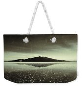 Salt Cloud Reflection Black And White Vintage Weekender Tote Bag