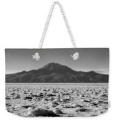 Salt Flat Surface Black And White Weekender Tote Bag