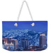 Salt Lake City Skyline Weekender Tote Bag