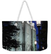 Salt Lake Mormon Temple At Night Weekender Tote Bag