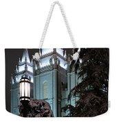 Salt Lake Temple In The Snow Weekender Tote Bag