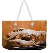 Salt Water Crocodile Skull Weekender Tote Bag