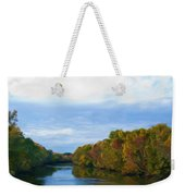 Saluda River In The Fall Weekender Tote Bag