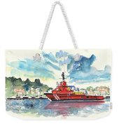 Salvage Ship In Cartagena Weekender Tote Bag