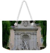 Salzburg Castle With Fountain Weekender Tote Bag by Carol Groenen