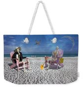 Sam And His Friend Visit Long Boat Key Weekender Tote Bag
