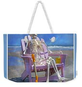 Sam Enjoys The Beach -- Again Weekender Tote Bag