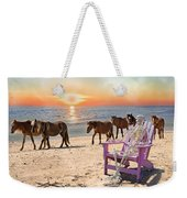 Sam Watches Over The Harem  Weekender Tote Bag by Betsy Knapp