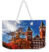 Samford Hall In The Fall Weekender Tote Bag by Victoria Lawrence