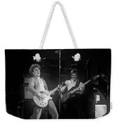 Sammy And Bill On Stage In Spokane In 1977 Weekender Tote Bag