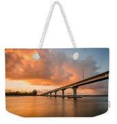 Samoa Bridge At Sunset Weekender Tote Bag