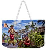 Samoan Torch Bearer Weekender Tote Bag by David Smith