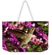 Sampling The Flowers Weekender Tote Bag