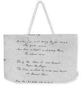 Samuel Taylor Coleridge (1772-1834) Weekender Tote Bag