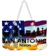 San Antonio Tx Patriotic Large Cityscape Weekender Tote Bag