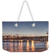 San Clemente Pier At Night Weekender Tote Bag by Richard Cheski