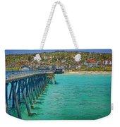 San Clemente Pier Weekender Tote Bag by Joan Carroll
