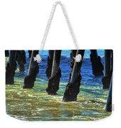 San Clemente Pier Weekender Tote Bag by Mariola Bitner