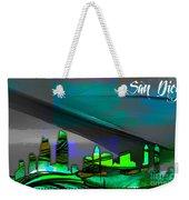 San Diego California Skyline Watercolor Weekender Tote Bag