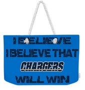 San Diego Chargers I Believe Weekender Tote Bag