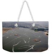 San Diego Mission Bay Water Aerial Weekender Tote Bag