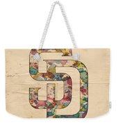 San Diego Padres Logo Vintage Weekender Tote Bag